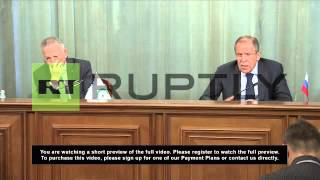 Russia: Lavrov Says International Community Must End 'game' In Syria