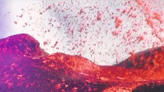 Stunning volcanic eruption on France's Reunion Island