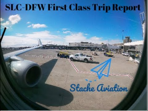 salt lake city slc dallas ft worth dfw american airlines first class trip report youtube youtube