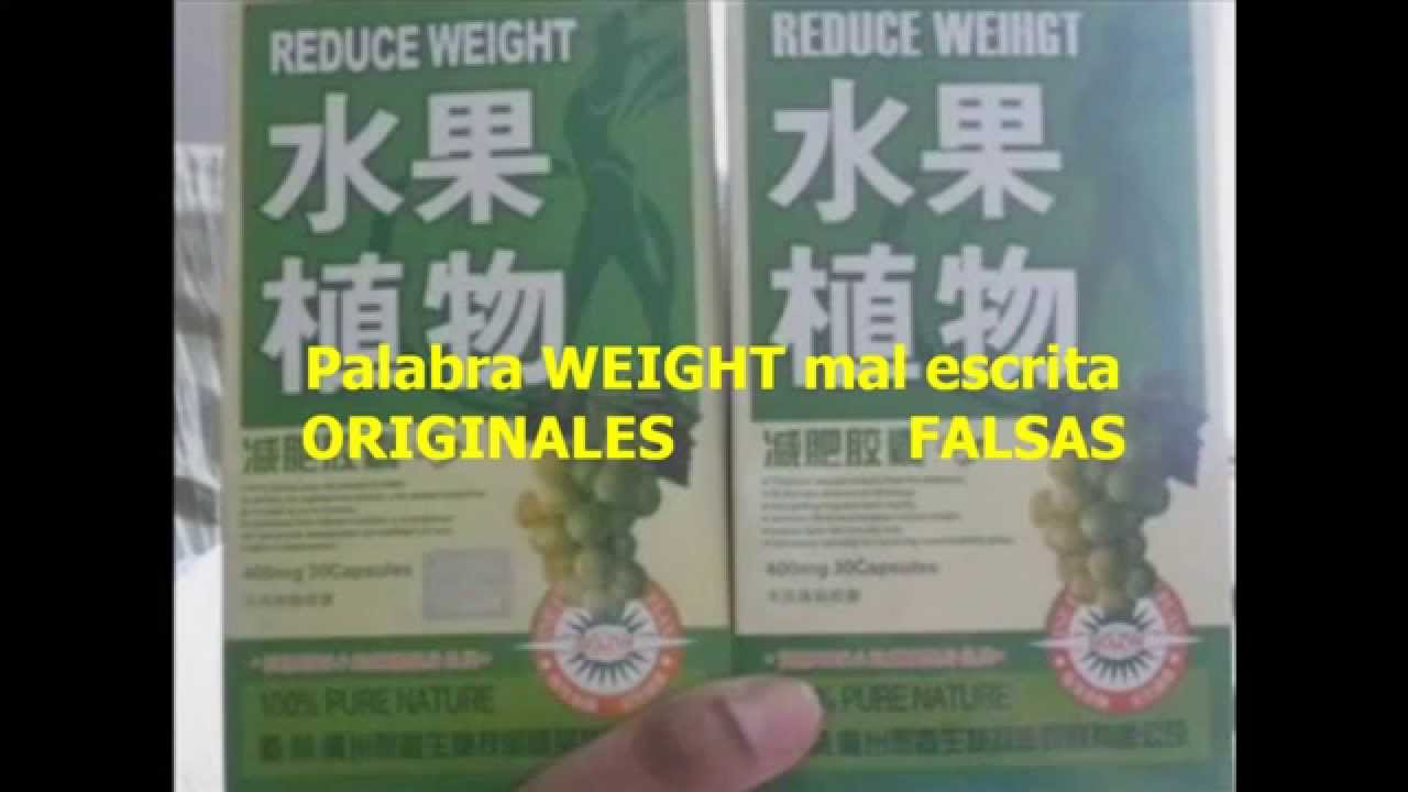 Pastillas chinas para adelgazar reduce weight fruta plantar