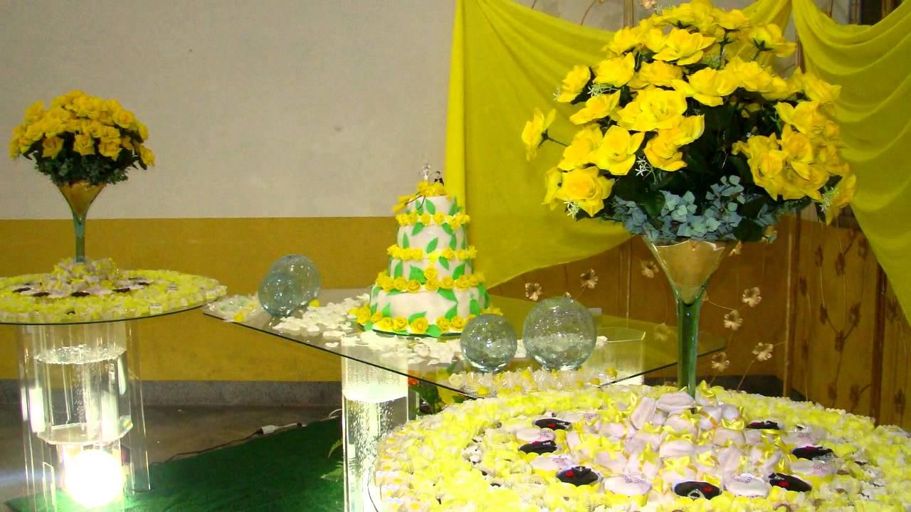 decoracao casamento rustico azul e amarelo:Ornamentação Casamento Amarelo – YouTube
