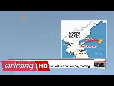 North Korea fires three short-range ballistic missiles in apparent protest to S. Korea-U.S