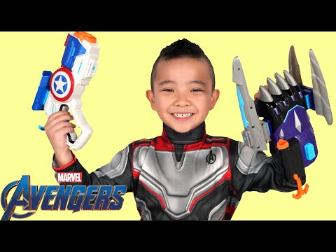 AVENGERS Endgame NERF Gear Test and Unboxing With CKN Toys