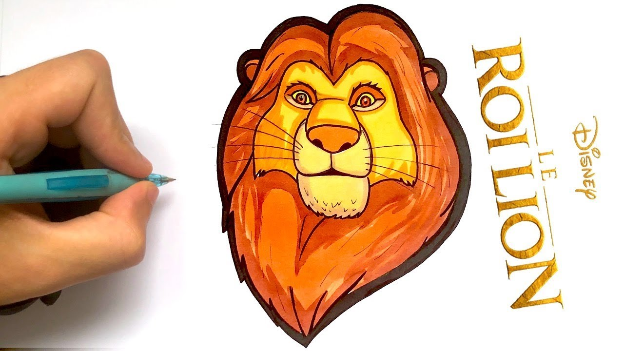 Comment Dessiner Simba Facilement Le Roi Lion Youtube