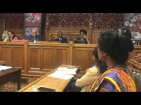 Shivani Jegarajah talks on the disappearances in Sri Lanka at the TGTE Meeting on the 4th September