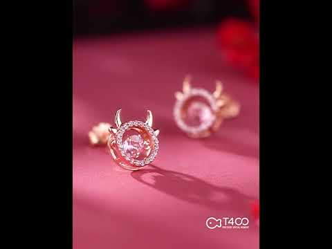 T400 x LSB - Year of the OX Floating Diamond Earrings