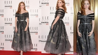 Ellie Bamber red carpet fashions and styles 2017