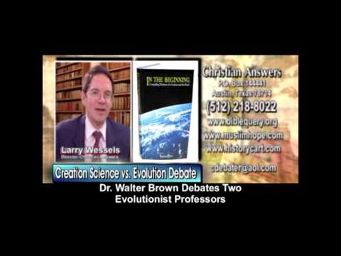 Dr. Walter Brown vs. 2 Evolutionists Debate: God