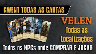 GWENT Todas as Cartas Onde Comprar e Jogar (Velen) - The Witcher 3