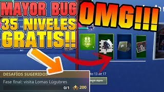 (PARKED) THE BIGGEST BUG IN FORTNITE'S HISTORY+ 35 FREE BATTLE PASS LEVELS!!