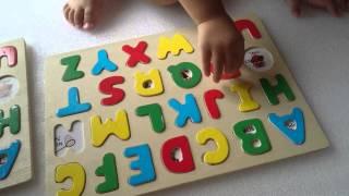 寶貝學拼圖英文字母