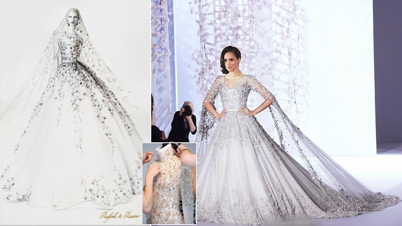 Meghan\'s handmade wedding dress rumored & Harry\'s being remarkably ...