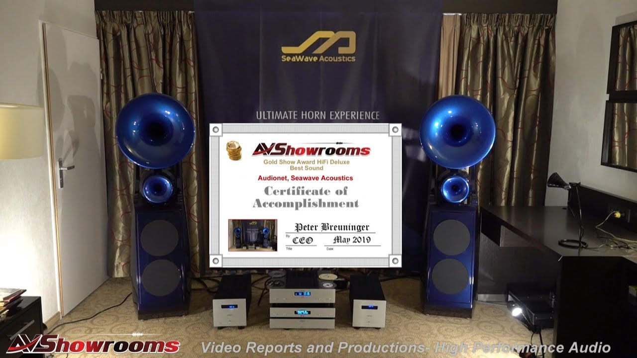 Audionet, SeaWave Acoustics Plotinus Horn Loudspeakers, Show Award Winner!  HiFi Deluxe 2019