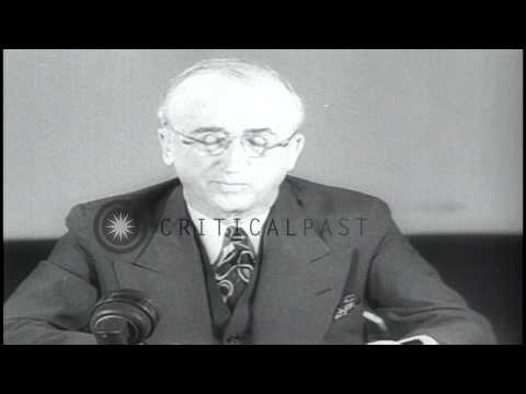 US Secretary of State James F. Byrnes reports in the US on the first meeting of C...HD Stock Footage