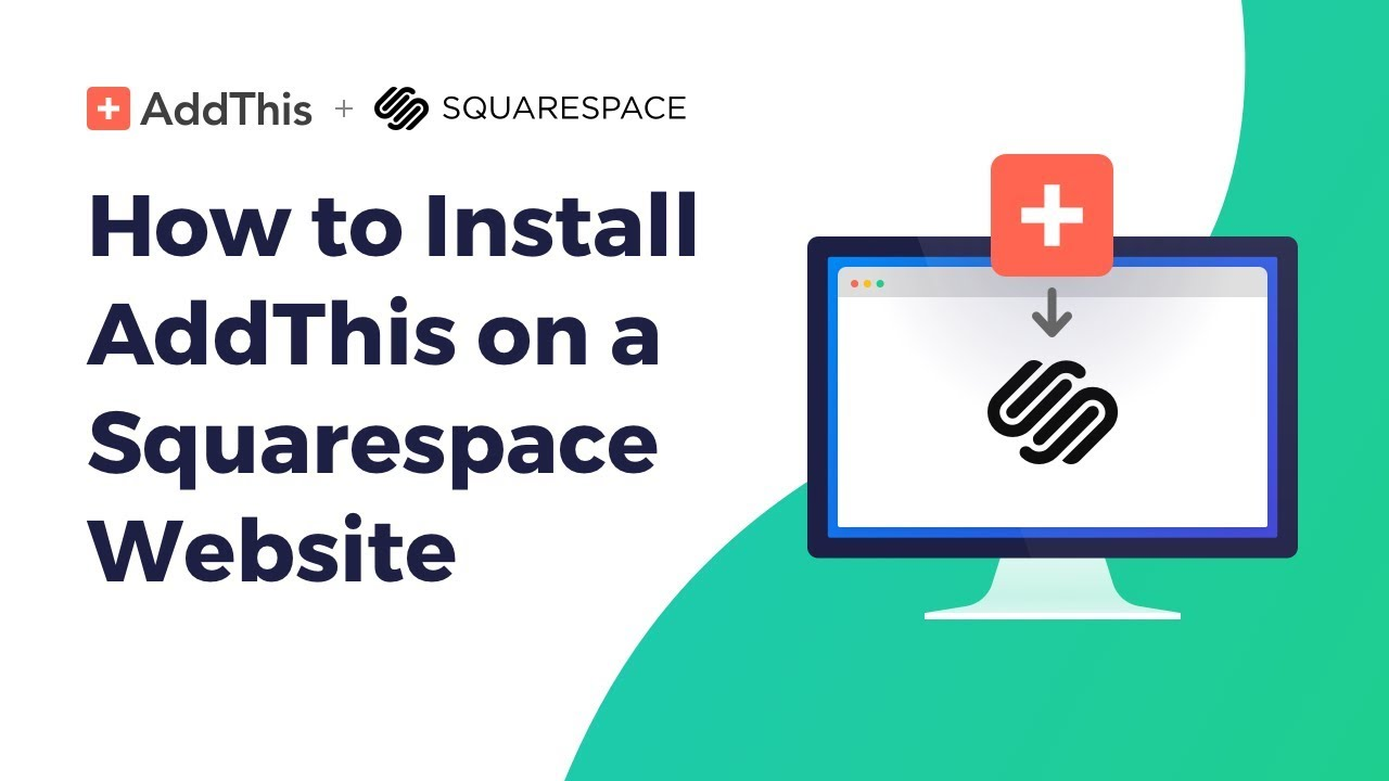 How To Install Addthis Share Buttons On Squarespace Youtube