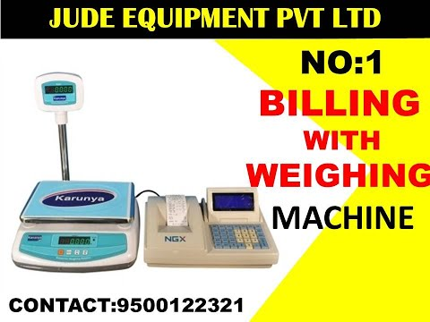 Billing With Weighing Machines  For Vegetable Shops, Fruits Shops In Chennai | 9500122321