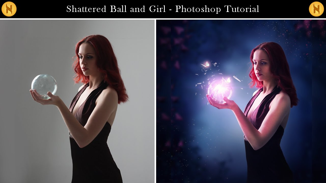 Shattered Glass Ball and Girl - Photoshop Tutorial - YouTube