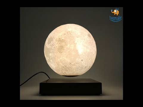 Levitating Moon Lamp | Magnetic Floating Moon Light | Bigsmall.in