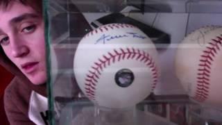 Signed baseballs for sale, Joe Dimaggio, Wille Mays