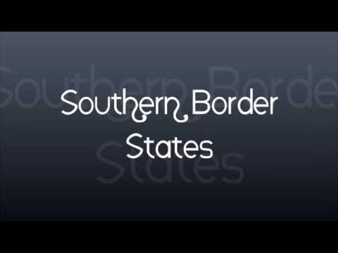 Southern  Border States and Capitals