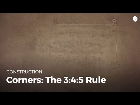 Corners: the 3:4:5 Rule | Masonry