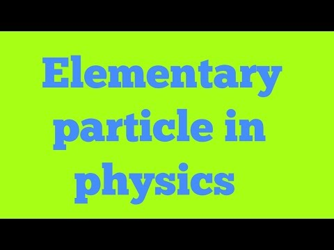 Elementary particles in hindi