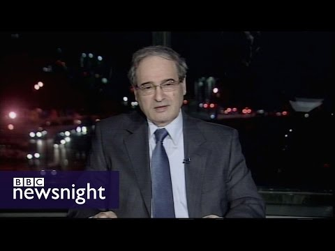 Interview with Syrian Deputy Foreign Minister Faisal Mekdad - BBC Newsnight