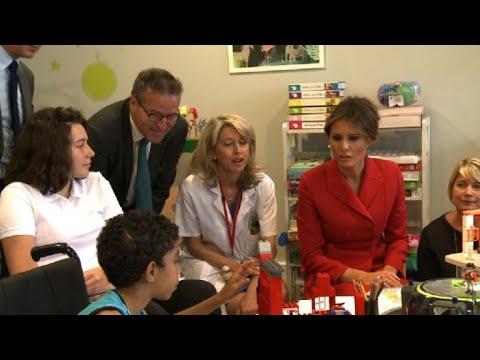 Melania Trump visit Paris children's hospital