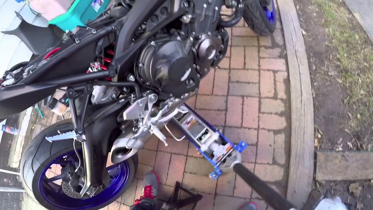Fz09 Rear Shock Conversion From Kawasaki Zx6r Zx10r