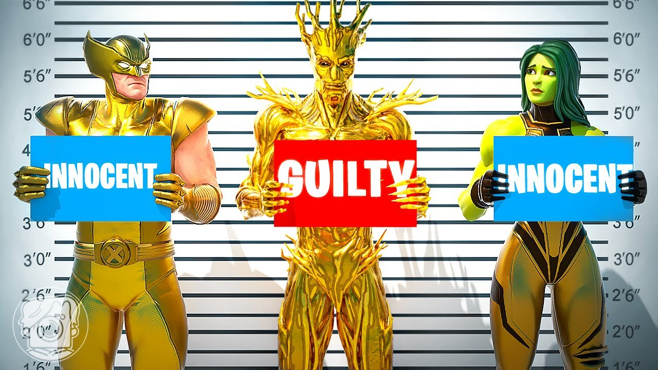 WHICH GOLD SKIN is GUILTY? (Fortnite Murder Mystery)