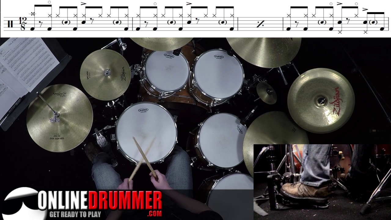 How To Play Fool In The Rain - Drum Lesson