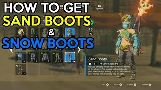 How to get Sand Boots and Snow Boots - Legend Of Zelda Breath Of The Wild