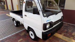 1991 Suzuki Carry 17k miles 4WD review and test drive