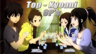 ||Top-24|| Kyoto Animation/ 京都アニメー studio. Openings
