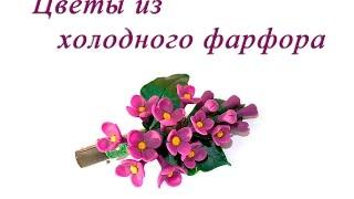 Cold Porcelain Flowers Tutorial: lilac. Цветы из холодного фарфора. Сирень из холодного фарфора(В этом видео вы научитесь изготавливать цветы из холодного фарфора. Совсем скоро наступит самое прекрасное..., 2016-02-09T15:33:51.000Z)