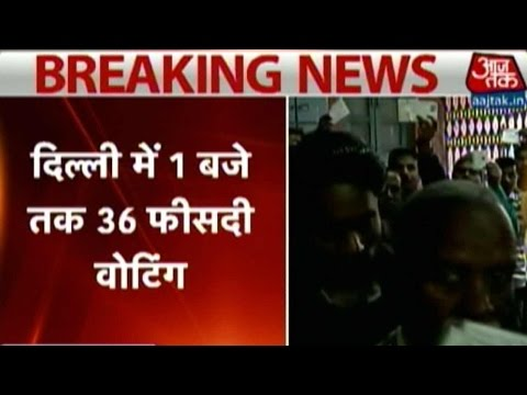 Delhi polls: 36% voting recorded till 1 pm