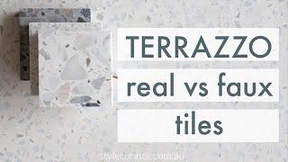 real terrazzo vs terrazzo look tiles