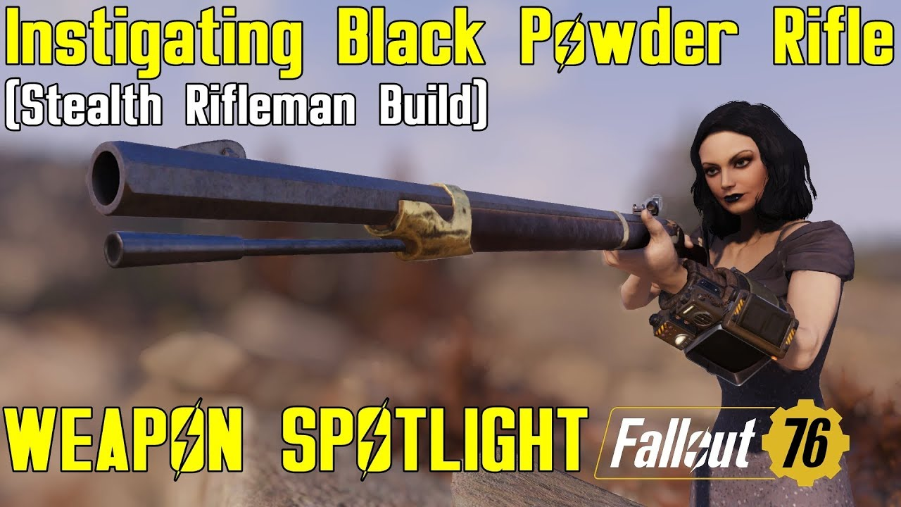 Fallout 76: Weapon Spotlights: Instigating Black Powder Rifle (Mod)