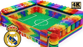 DIY - How To Build Real Madrid Stadium From Magnetic Balls (Satisfying) | Magnet World Series