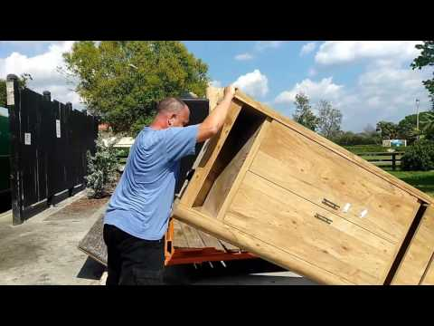 Removing Junk from the Dumpster Overflow Area