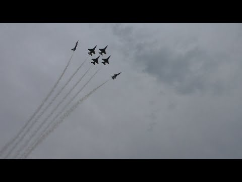 Thunderbirds Show Opener at the 2015 Gary Air Show