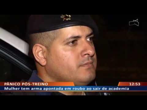 DF ALERTA - Mulher tem arma apontada em roubo ao sair de academia