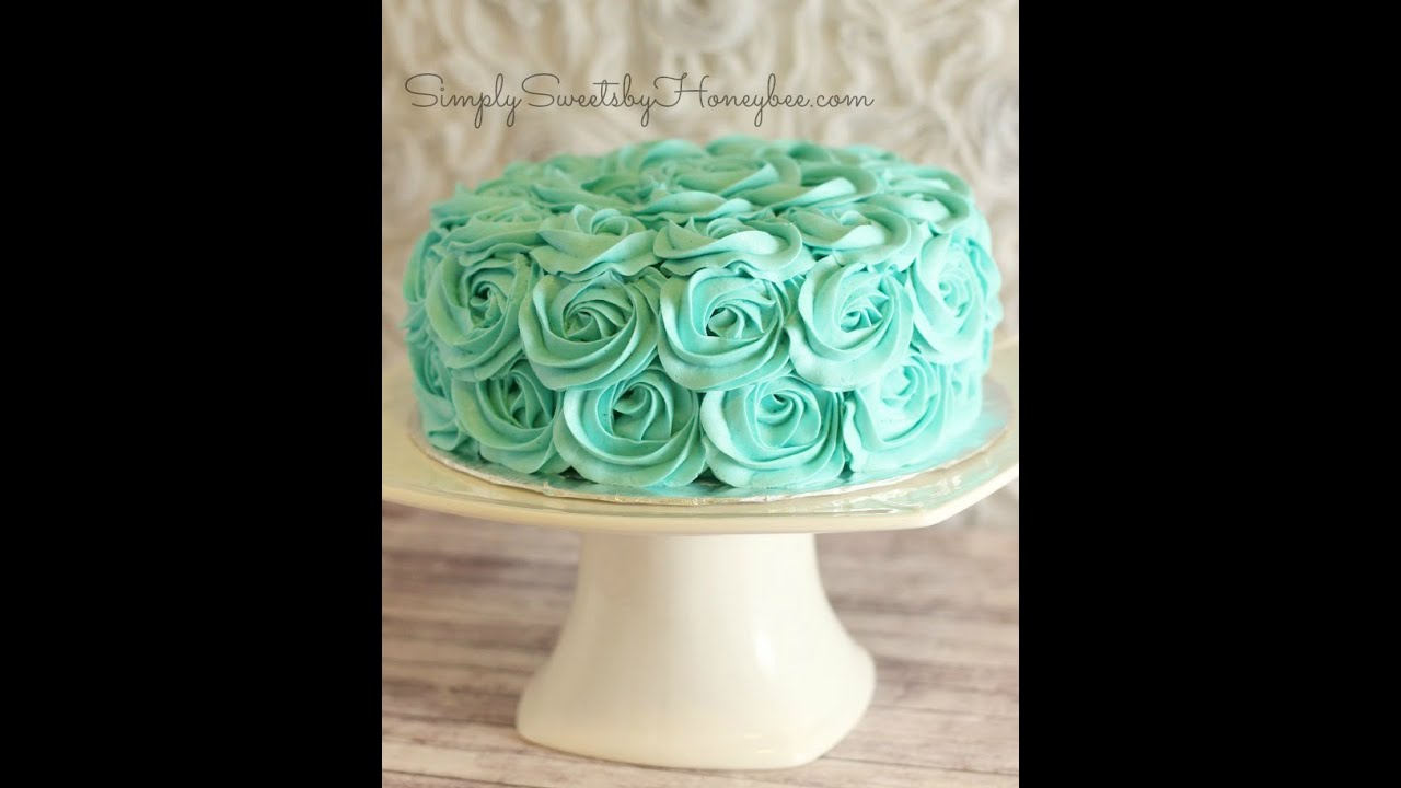 Cake Decorating How To Make Roses : Rose Swirl Cake Tutorial - YouTube