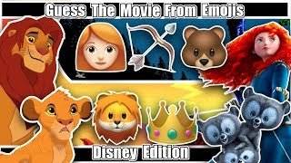 Guess The DISNEY MOVIE From EMOJIS!!!😄🤪😋 DISNEY - LION KING -TANGLED -FROZEN - ZOOTOPIA & More!!!