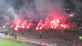 Victoria Berlin - Eintracht Frankfurt Pyro Action