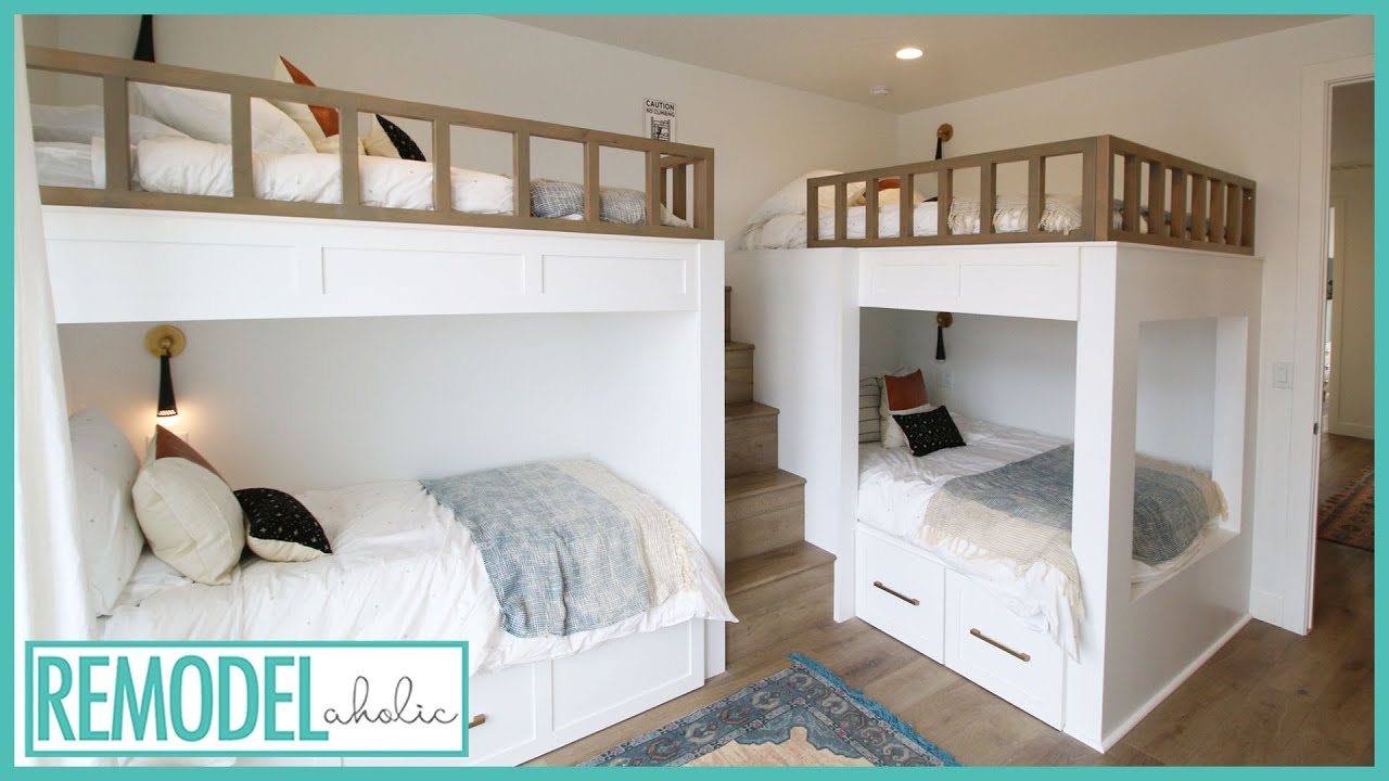Cool Bunk Bed Room Ideas For Kids Room Tours Youtube