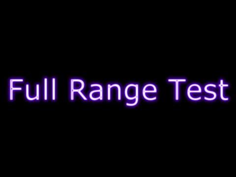 Speaker Test: Full Range (20kHz - 20Hz)