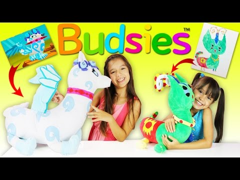 BUDSIES our Animal Jam creations turned into Huggable Kids Plush Toys, Unboxing with Budsies CEO