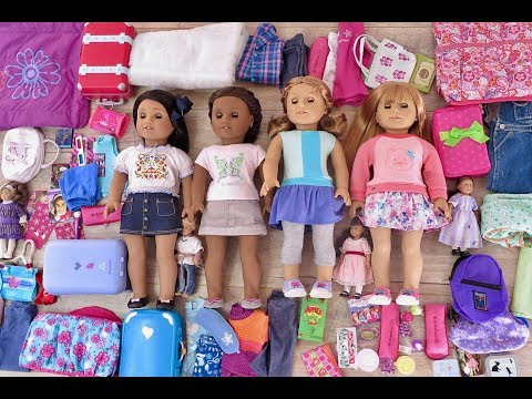 Packing And Cleaning Up For An American Girl Doll Sleepover