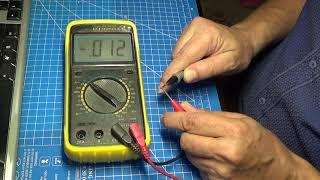 DT9205A continuity beeper / тест звуковой прозвонки